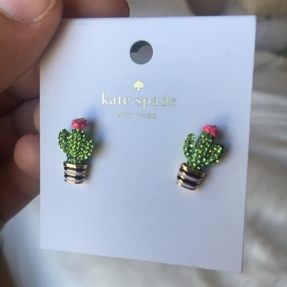 Kate Spade Jewelry Nwt Cactus Earrings Poshmark